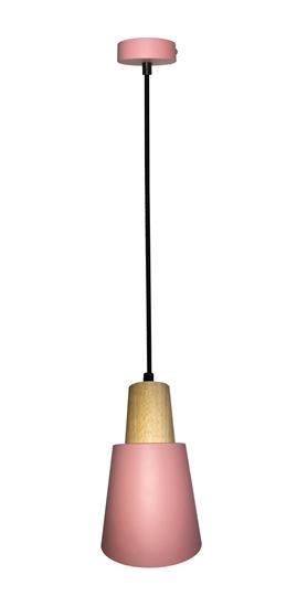LAMPA WISZĄCA FARO LEDEA 50101259 E27 40W METAL, DREWNO RÓZÓWY