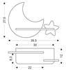 Kinkiet LED 5W dla dziecka żółty księżyc gwiazdka Moon Candellux 21-76731