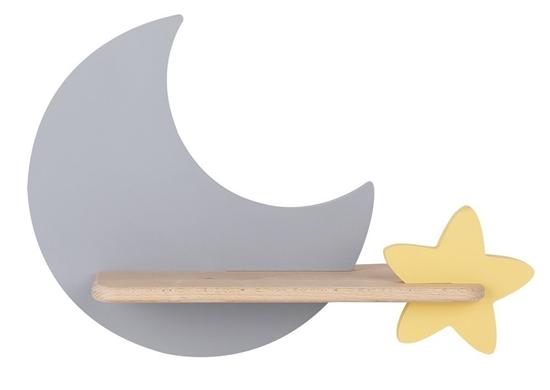 Kinkiet LED 5W dla dziecka szary księżyc gwiazdka Moon Candellux 21-75574