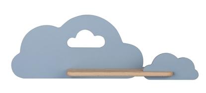 Kinkiet LED 5W dla dziecka niebieska chmurka z półką Cloud Candellux 21-75581