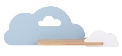 Kinkiet LED 5W dla dziecka niebiesko-biała chmurka z półką Cloud Candellux 21-33567
