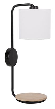 Kinkiet czarny lampa ścienna z półką 40W E14 Alpine Candellux 21-76694
