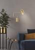 Kinkiet złoty lampa ścienna regulowana GU10 15W Hosti Candellux 21-75468