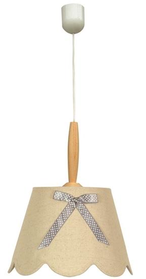 Lampa wisząca dziecięca drewno z kokardą E27 60W Ami Candellux 31-58188