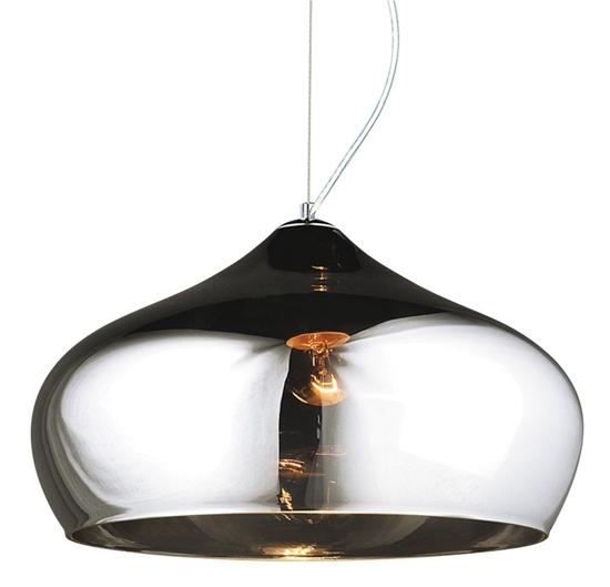 Lampa wisząca sufitowa chromowa szklana 60W E27 Hector Candellux 31-63703