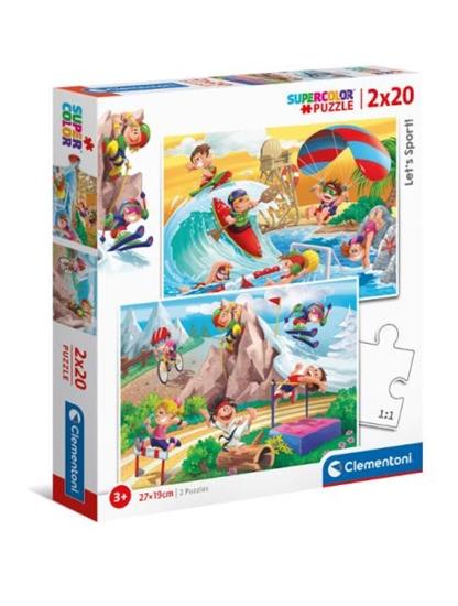 Clementoni Puzzle 2x20el Let's sport! 24780 (24780 CLEMENTONI)