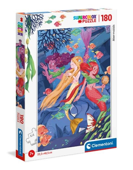 Clementoni Puzzle 180el Syreny. Mermaids 29307 (29307 CLEMENTONI)