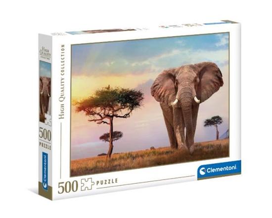Clementoni Puzzle 500el Zachód słońca w Afryce. African sunset 35096 (35096 CLEMENTONI)