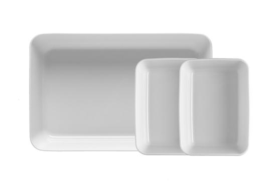 Komplet 3 szt. pojemników do zapiekania 34 i 2x18 cm Bake&Cook Lubiana