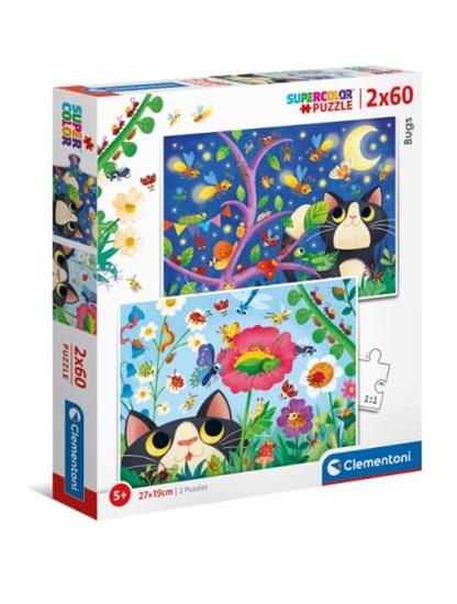 Clementoni Puzzle 2x60el Bugs 21618 (21618 CLEMENTONI)