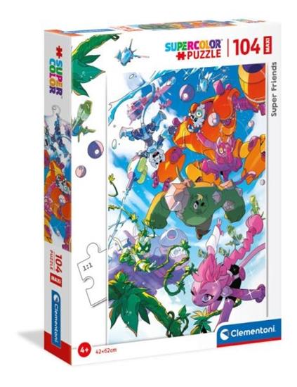 Clementoni Puzzle 104el Maxi Super friends! 23754 (23754 CLEMENTONI)