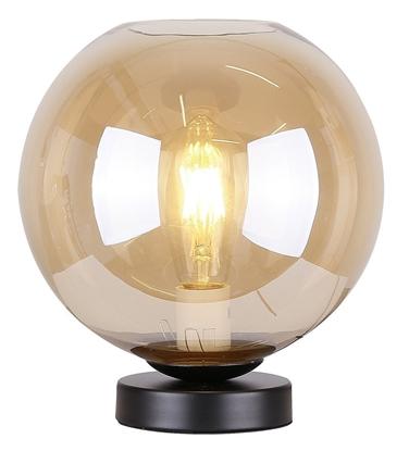 Lampka gabinetowa nocna bursztynowe szkło 60W E27 Globe Candellux 41-78261