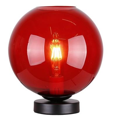 Lampka gabinetowa nocna czerwone szkło 60W E27 Globe Candellux 41-78278