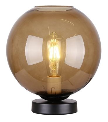 Lampka gabinetowa nocna brązowe szkło 60W E27 Globe Candellux 41-78285
