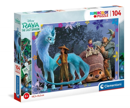 Puzzle 104 elementy Super Kolor Raya and The Last Dragon (GXP-743532)