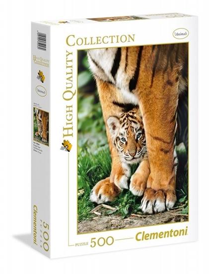 500 elementów Tygrys bengalski między nogami matki (GXP-633657)