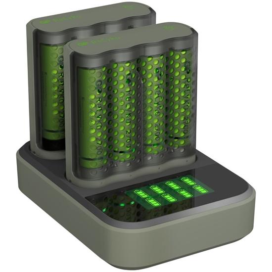 Ładowarka akumulatorków Ni-MH R03/R6 GP ReCyko M451 2szt + stacja dokująca D851 + 8 x AA/R6 GP 2700 Series 2600mAh