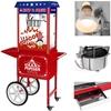 Mobilna maszyna do popcornu z wózkiem na kółkach TEFLON 1600W