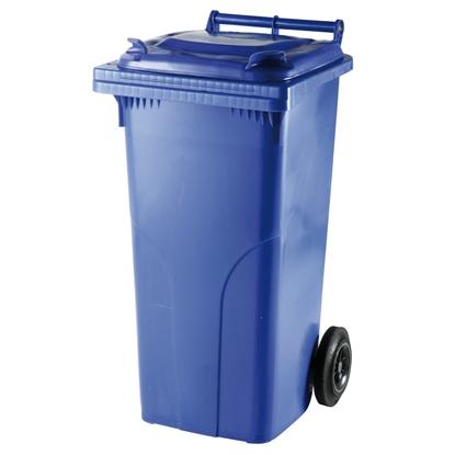 Pojemnik kubeł na odpady i śmieci ATESTY Europlast Austria - niebieski 120L
