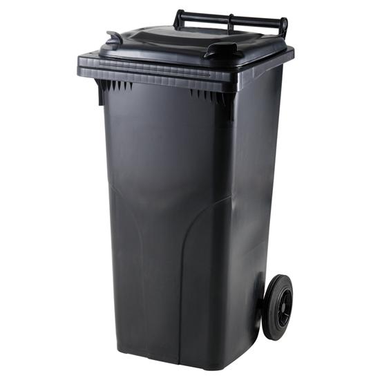 Pojemnik kubeł na odpady i śmieci ATESTY Europlast Austria - czarny 120L