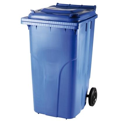 Pojemnik kubeł na odpady i śmieci ATESTY Europlast Austria - niebieski 240L