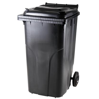 Pojemnik kubeł na odpady i śmieci ATESTY Europlast Austria - czarny 240L