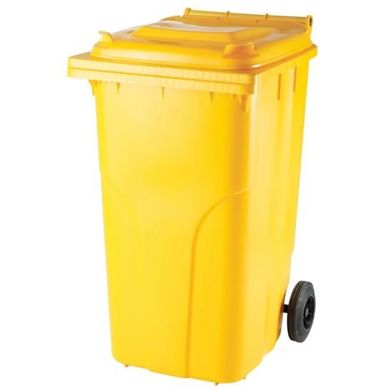 Pojemnik kubeł na odpady i śmieci ATESTY Europlast Austria - żółty 240L