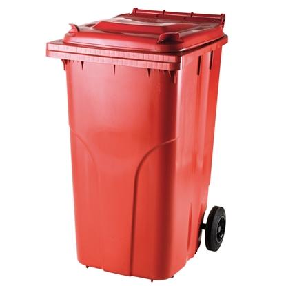 Pojemnik kubeł na odpady i śmieci ATESTY Europlast Austria - czerwony 240L