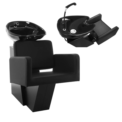 Myjka myjnia umywalka z fotelem fryzjerska Physa TERMOLI czarna