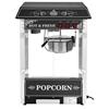 Profesjonalna wydajna maszyna do popcornu mobilna na wózku 230V 1.6kW czarna