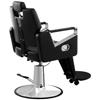 Profesjonalny fotel fryzjerski barberski z podnóżkiem obrotowy TURIN Physa czarny