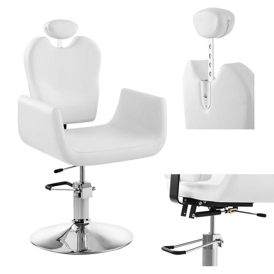 Profesjonalny fotel fryzjerski kosmetyczny obrotowy LIVORNO Physa biały