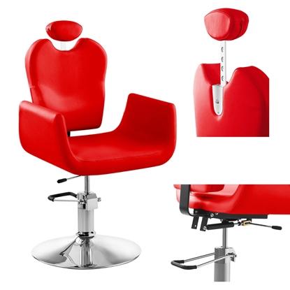 Wygodny fotel fryzjerski barberski obrotowy LIVORNO Physa czerwony