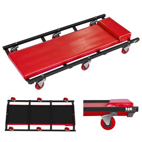 Wózek leżak leżanka warsztatowa pod auto na kółkach 270 x 900 mm MSW RB-110