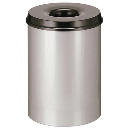 Kosz pojemnik na odpadki stalowy samogasnący do pomieszczeń 30L