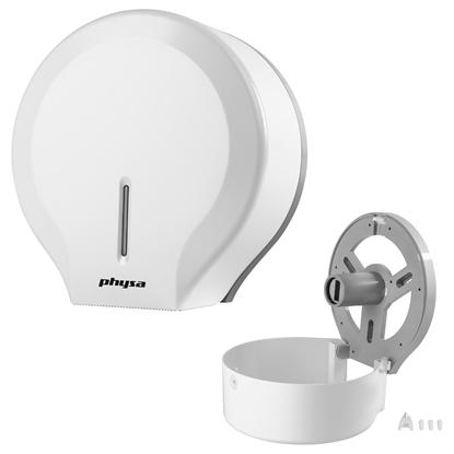 Dozownik podajnik do papieru toaletowego ścienny jumbo biały Physa FOGGIA WHITE