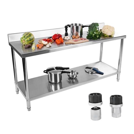 Stół blat roboczy gastronomiczny przyścienny z rantem i półką 180x60cm