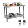 Stół blat roboczy stalowy nierdzewny gastronomiczny przyścienny 150x60cm
