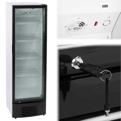 Lodówka chłodziarka szafa chłodnicza na napoje przeszklona 2-8C 320L