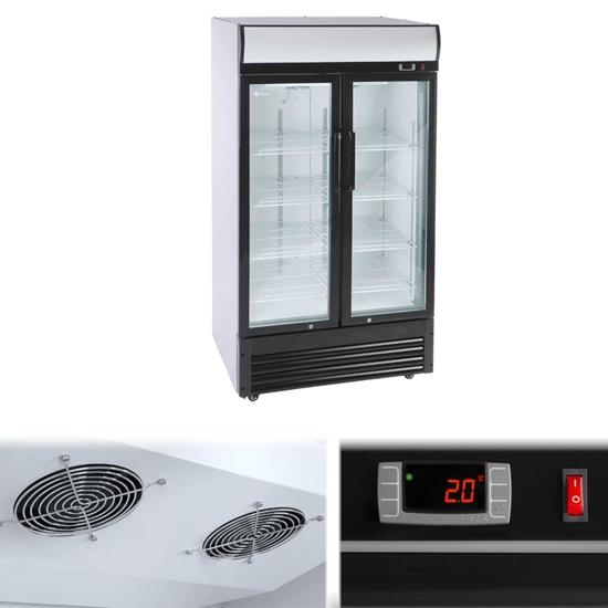 Lodówka chłodziarka szafa chłodnicza na napoje podwójna przeszklona 2-8C 630L