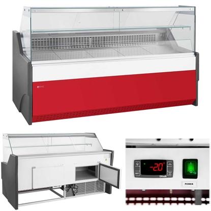 Lada witryna chłodnicza sklepowa handlowa ze szklaną osłoną od -2 do 2C 470L 195cm