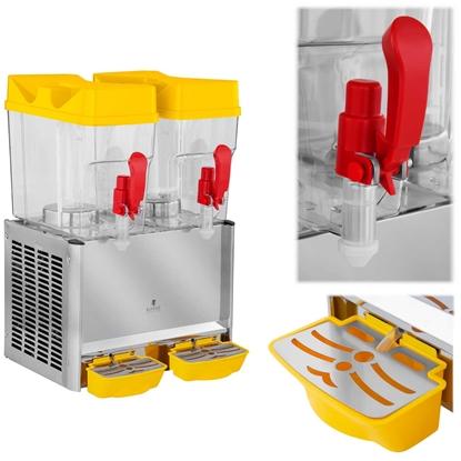 Dyspenser dozownik schładzacz do napojów soków podwójny 2x 18L