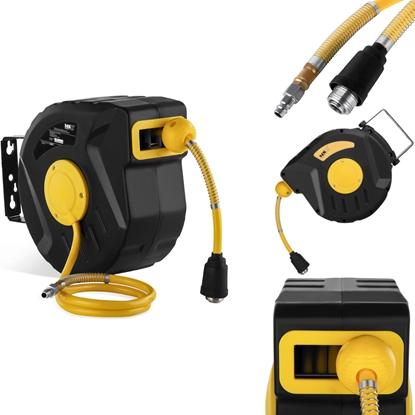 Zwijacz automatyczny bęben naścienny z wężem pneumatycznym do sprężarki przyłącze 1/4 dł. 11m