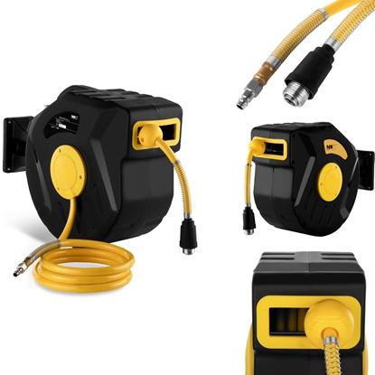 Zwijacz automatyczny bęben naścienny z wężem pneumatycznym do sprężarki przyłącze 1/4 dł. 22m