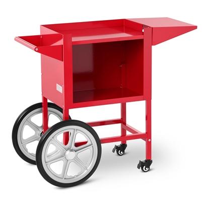 Wózek podstawa do maszyny do PopCornu z szafką - czerwony