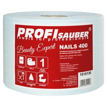 Chusteczki kosmetyczne z włókniny bezpyłowej do manicure paznokci NAILS 400