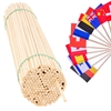 Patyczki do flag chorągiewek drewniane bukowe 50cm/5mm 100szt