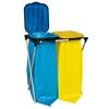 Stojak uchwyt na worki 120L na śmieci do segregacji - 2 rodzaje odpadków