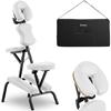 Krzesło do masażu składane do 130 kg białe