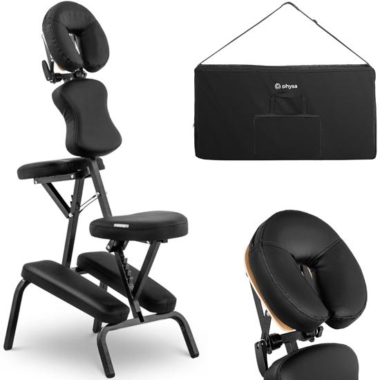 Krzesło do masażu składane do 130 kg czarne